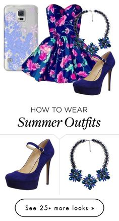 """""""Flower Outfit"""" by kaylajade544 on Polyvore featuring moda, Casetify ve Jessica Simpson"""