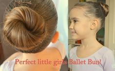 Perfect little girls Ballet Bun! | Hair Tutorial