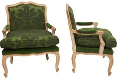 Late 18th-C. French Bergères, Pair