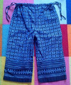 Gymboree Vintage Bohemian Boho Peasant Peacock Hippie India Batik Crop Pants 5 6 | eBay