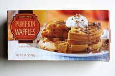 Though a really good toaster waffle, Trader Joe's Pumpkin Waffles ($2) didn't deliver enough pumpkin or spi...