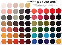 Deep Warm Autumn : deep warm colors
