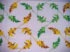 Vintage 50's Wilendur Modern Cottage Tablecloth Autumn Leaves Fall Colors Label | eBay