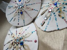 sand dollar ordaments | Christmas Sand Dollar Ornaments-Natural Glittering Shell Holiday ...