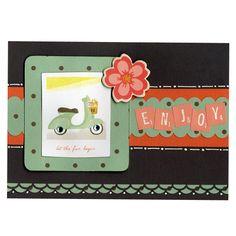 Vespa Enjoy Spring Flower Card