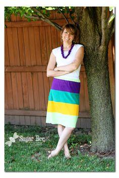 Sugar Bee Crafts: sewing, recipes, crafts, photo tips, and more!: Upcycled Tshirt Skirt