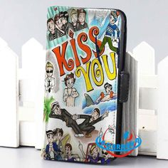 1d one direction kiss you walet case for iphone 4,4s,5,5s,5c,6 and samsung galaxy s3,s4,s5 - LSNCONECALL.COM