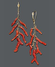Coral Branch Drop earrings, but i'd like with sterling silver