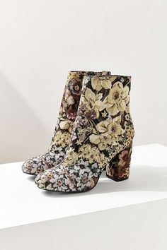 Urban Outfitters Emma Jacquard Ankle Boots