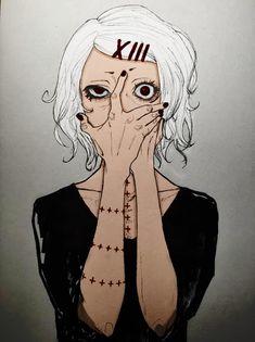 Juuzou Suzuya white haired @DaraenSuzu