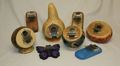 Board, Box, Coconut and Gourd Thumbpianos - created by Paul Bergstrom
