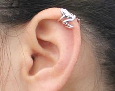 316L Stainless Steel Tree Frog Fake Cartilage Ear Cuff