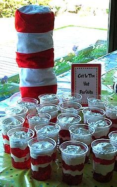 Cute & Clever Dr. Seuss Baby Shower Ideas and for Dr.. Seuss day in school. Or idea for 1st birthday