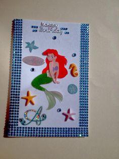 Disney Ariel/Handmade/Birthday/Special occasion/fun card