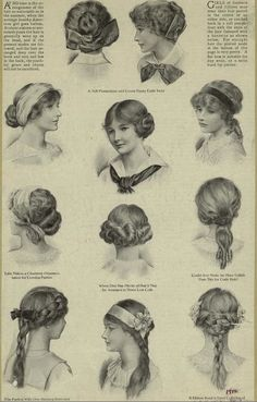 1900-1910 hairstyles - Google Search