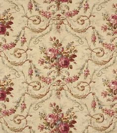 """Robert Allen Rochelle Antique Fabric - Robert Allen @ Home offers luxurious, beautifully crafted fabric prints and weaves. 54"""" Wide. 100% Cotton. Dry Clean Only . Made in USA. ($44.99 per yard at Jo-Ann Fabrics)"""