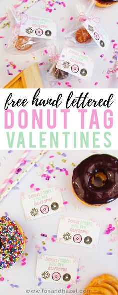 Hand Lettered Donut Valentine's