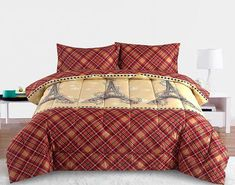 Beatrice Paris for Christmas Twin Comforter Bedding Set Holiday Winter Eiffel Tower, Red – Comforter Sets – Bedding – Bed & Bath Girls Comforter Sets, Blue Bedding Sets, Twin Comforter, Queen Bedding, Nautical Bedding Sets, Paris Bedding, Dorm Bedding, Beige Bed Linen, Christmas Bedding