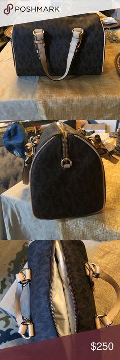 Never Used MK bag Chocolate brown with original MK monogram. Never been used. Michael Kors Bags