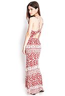 cutout paisley maxi dress