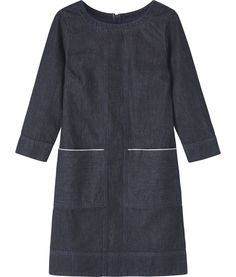 denim dress from Toast - note to self: look closely at the bodies seam lines.