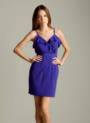 @Overstock - A stylish ruffle detailing highlights this purple dress from Calvin Klein. A flattering surplice neck and empire waist finish this fashionable dress.   http://www.overstock.com/Clothing-Shoes/Calvin-Klein-WomenS-Purple-Ruffle-Neck-Dress/6991888/product.html?CID=214117 $59.99