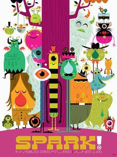 Invisible creature illustration