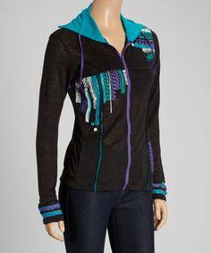 Look what I found on #zulily! Black Tribal Zip-Up Jacket - Women #zulilyfinds