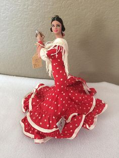 Vtg 9 Marin de chiclana spanish flamenco doll dancer