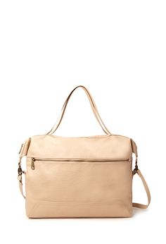 Textured Faux Leather Satchel | FOREVER21 - 1000067193