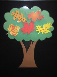Flannel Rhyme:  5 Little Leaves in the Tall, Tall Tree