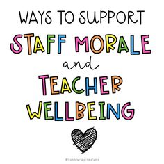 Teacher Morale, Staff Morale, School Staff, School Counselor, Elementary Counseling, Sunday School, Teacher Appreciation Week, Volunteer Appreciation, Appreciation Gifts