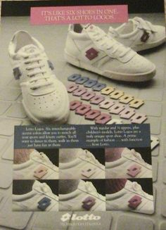 c3d2ec610de lotto sneakers- miss these shoes and Velcro-ing the various colors to match  my outfits had them in junior high