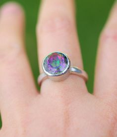 Mystic Topaz In Sterling Silver Ring by louisagallery on Etsy, $105.00