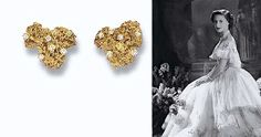 A PAIR OF DIAMOND-SET LICHEN EARCLIPS, BY ANDREW GRIMA  Of textured abstract design, each randomly set with brilliant and single-cut diamonds ~ from the Collection of H.R.H The Princess Margaret, Countess of Snowdon