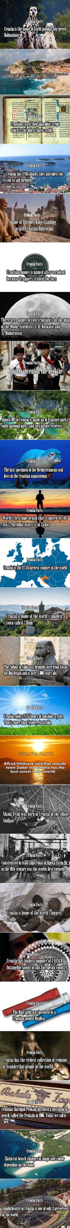 Fun facts about Croatia