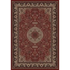 Shop Concord Global Dynasty Rectangular Red Floral Woven Area Rug (Common: 9-ft x 12-ft; Actual: 9-ft 3-in x 12-ft 10-in) at Lowes.com