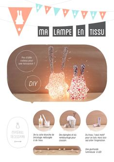 43 Trendy Home Diy Lamp Tutorials Sewing For Kids, Diy For Kids, Fun Crafts, Diy And Crafts, Diy Lampe, Web Design, Lamp Design, Idee Diy, Diy Décoration