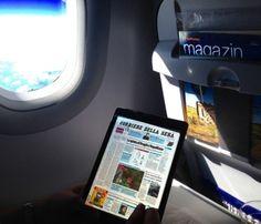 Media Box l'Edicola Digitale anche ad alta quota!