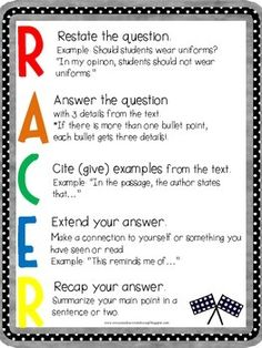 Text Evidence RACE Strategy by Everyone Deserves to Learn Races Writing Strategy, Race Writing, Research Writing, Writing Strategies, Academic Writing, Teaching Writing, Writing Resources, Writing Tips, Teaching Ideas