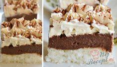 Osobně neznám žádnou osobu, která by neměla ráda kombinaci čokolády a kokosu. Tyto kostky jsou skutečně plné čokolády a kokosu. Zákusek je nenáročný na přípravu. K nedělní odpolední kávičce jako stvořený. I když se přidává velké množství cukru ve výsledném efektu není zákusek přeslazený a chutná skvěle. Autor: Adkas Cake Cookies, Finger Foods, Vanilla Cake, Tiramisu, Cheesecake, Food And Drink, Pie, Cooking Recipes, Sweets
