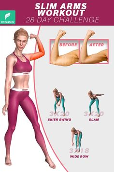 ARMS WORKOUT Are you thinking about, how to get rid of arm fat at home? Then here is our challenge for 28 days with these 3 simple exercises which works effectively to get toned arm. Are you thinking about, how to get rid of arm fat at home? Fitness Workouts, Gym Workout Videos, Gym Workout For Beginners, Fitness Workout For Women, Easy Workouts, At Home Workouts, Workout Routines, Morning Ab Workouts, Daily Exercise Routines