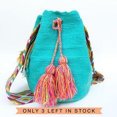 """Azul"" Hand Woven Mochila Bag"