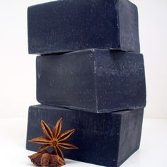 Good for pretty much every skin issue. Smells like black licorace! Soap Making Recipes, Soap Recipes, Activated Charcoal Soap, Cosmetics And Toiletries, Mens Soap, Soap Labels, Black Soap, Body Soap, Cold Process Soap