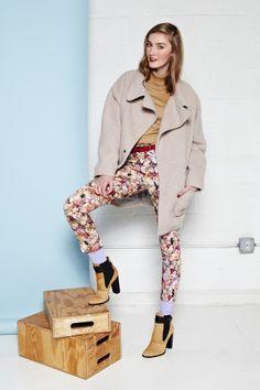 Topshop turtleneck, Topshop coat, Topshop pants, stylist's own socks, Elizabeth and James booties, Madewell belt.