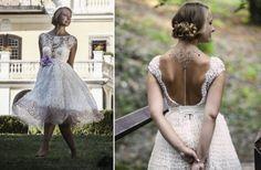 Gorgeous tea-lenght wedding gown by Atelier De Couture
