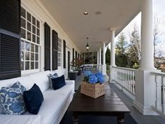 Southern Proper, love the dark shutters against the white