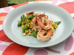 Get Grilled Shrimp and Summer Squash Salad Recipe from Food Network