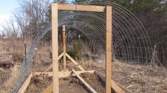 Ohiofarmgirl's Adventures In The Good Land: Build a Hoop House Step 3: Frame it up!