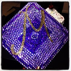 last semester i decorated my friend's graduation cap with rhinestones